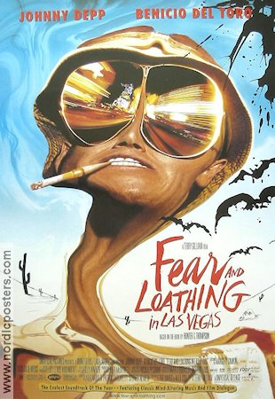 Fear and Loathing in Las Vegas 1998 Movie poster Johnny Depp Terry Gilliam