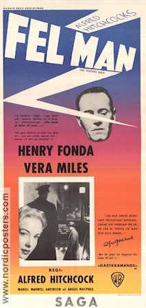 The Wrong Man 1957 poster Henry Fonda Alfred Hitchcock