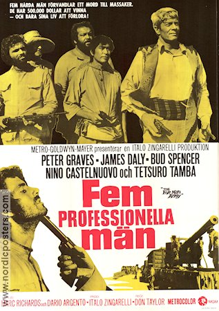 The Five Man Army 1970 poster Bud Spencer Dario Argento