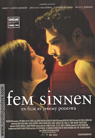 The Five Senses 1999 Movie poster Mary-Louise Parker Jeremy Podeswa