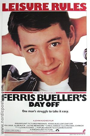 Ferris Bueller's Day Off 1986 John Hughes Matthew Broderick Jeffrey Jones