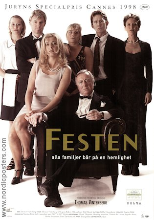 Festen 1998 Movie poster Ulrich Thomsen Thomas Vinterberg