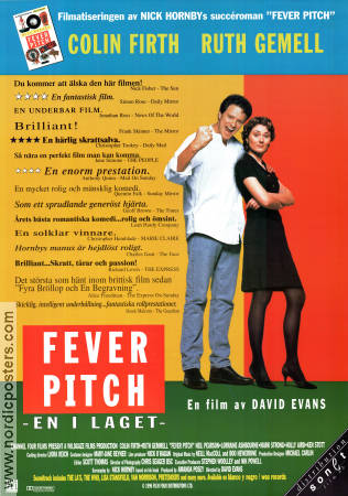 Fever Pitch 1996 poster Colin Firth David Evans