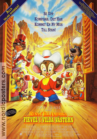 An American Tail Fievel Goes West 1991 poster Don Bluth