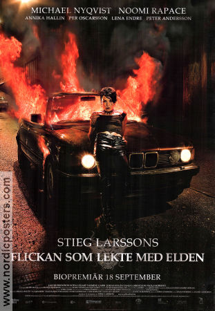 Flickan som lekte med elden 2009 Movie poster Noomi Rapace