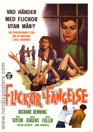 Girls in Prison 1956 poster Richard Denning
