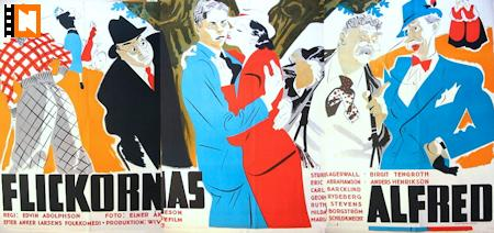 Flickornas Alfred 1935 poster Sture Lagerwall