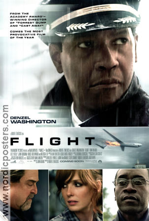 Flight 2012 poster Denzel Washington Robert Zemeckis
