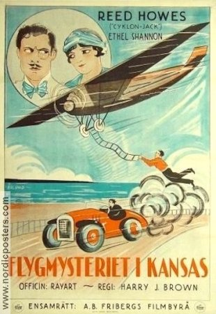 Flygmysteriet i Kansas 1926 poster Reed Howes