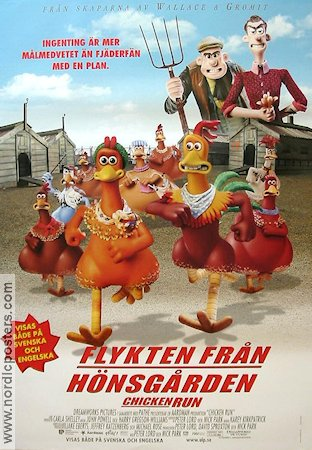 Chicken Run 2000 Movie poster Nick Park