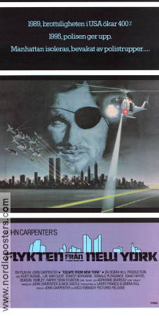 Escape From New York 1981 Movie poster Kurt Russell John Carpenter