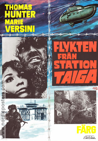 Flykten från station Taiga 1969 Movie poster Thomas Hunter