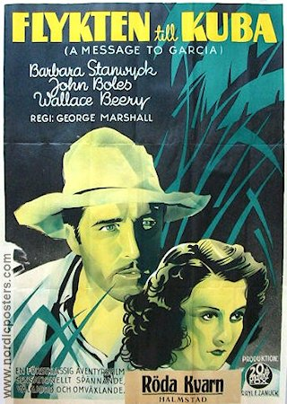 A Message to Garcia 1936 poster Barbara Stanwyck
