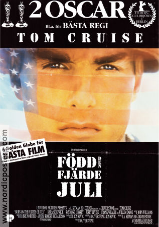 Born on the 4th of July 1989 poster Tom Cruise Oliver Stone