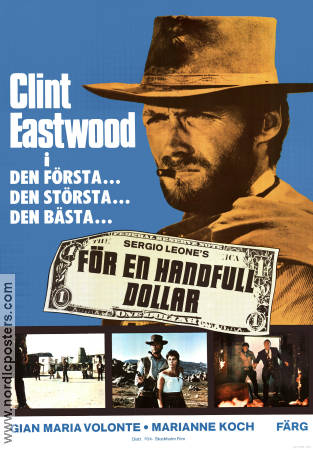 A Fistful of Dollars 1964 Movie poster Clint Eastwood Sergio Leone