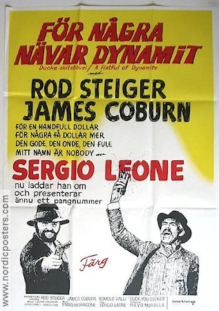 A Fistful of Dynamite 1974 Movie poster James Coburn Sergio Leone