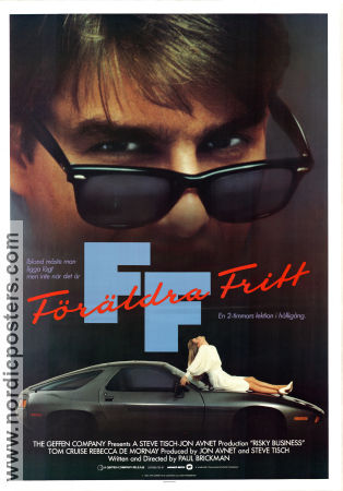 Risky Business 1983 Movie poster Tom Cruise