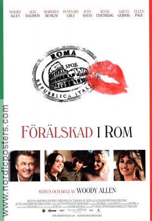 To Rome with Love 2012 poster Penelope Cruz Woody Allen