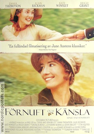 Sense and Sensibility 1995 Ang Lee Emma Thompson Kate Winslet Jane Austen