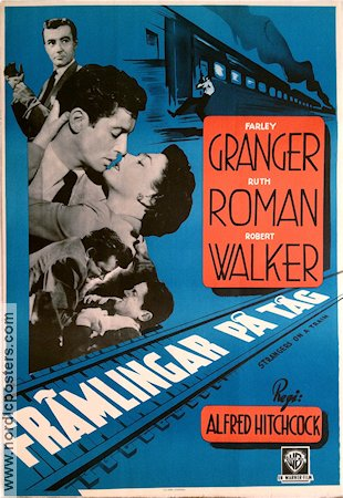 Strangers On a Train 1944 poster Farley Granger Alfred Hitchcock