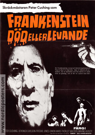Frankenstein Must be Destroyed 1969 Movie poster Peter Cushing