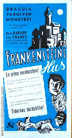 House of Frankenstein Poster 30x70cm FN original