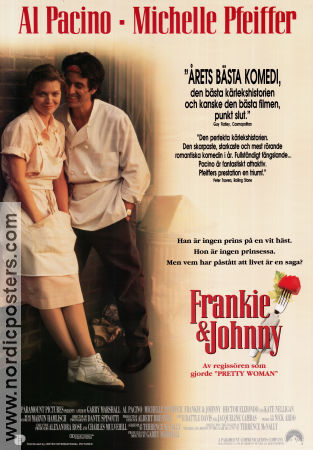 Frankie and Johnny 1991 Movie poster Al Pacino