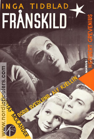 Fr�nskild 1951 Movie poster Inga Tidblad Gustaf Molander