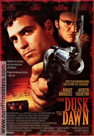 From Dusk Till Dawn 1996 poster George Clooney Robert Rodriguez