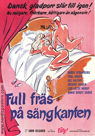 Full fräs på sängkanten 1975 Movie poster John Hilbard