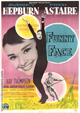 Funny Face 1957 Movie poster Audrey Hepburn