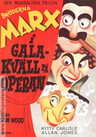 A Night at the Opera 1935 Sam Wood Marx Brothers Br�derna Marx Walter Bjorne