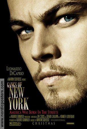 Gangs of New York 2002 Movie poster Leonardo di Caprio Martin Scorsese