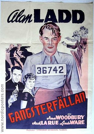 Paper Bullets Crime inc 1941 Movie poster Alan Ladd