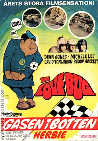 The Love Bug 1969 poster Dean Jones