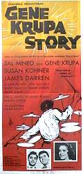 Gene Krupa Story 1960 Movie poster Sal Mineo