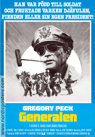 MacArthur the Rebel General 1977 poster Gregory Peck