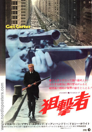 Get Carter 1971 poster Michael Caine Mike Hodges