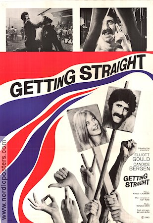 Getting Straight 1970 poster Elliott Gould