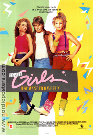 girls just want to have fun movie poster 1985 original