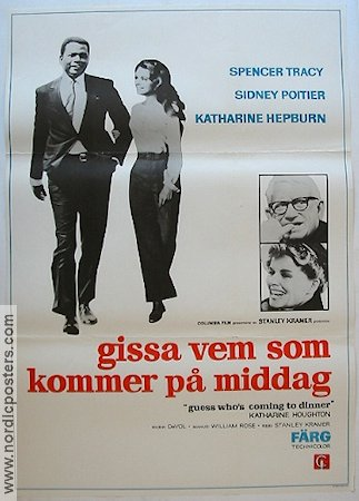 Guess Who's Coming to Dinner 1968 Movie poster Spencer Tracy