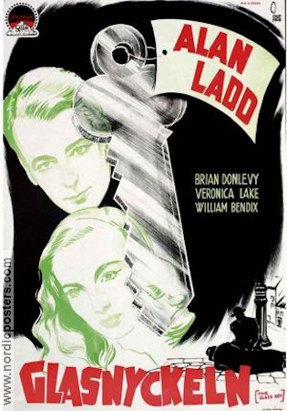 The Glass Key 1942 Movie poster Alan Ladd