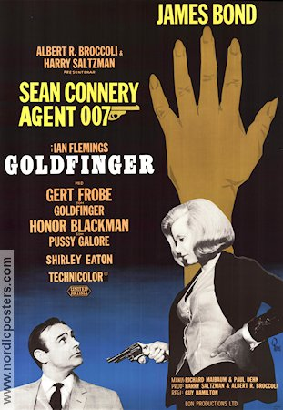Goldfinger 1964 Sean Connery Honor Blackman Gert Fr�be