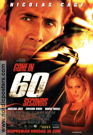 Gone in 60 Seconds 2000 poster Nicolas Cage Dominic Sena