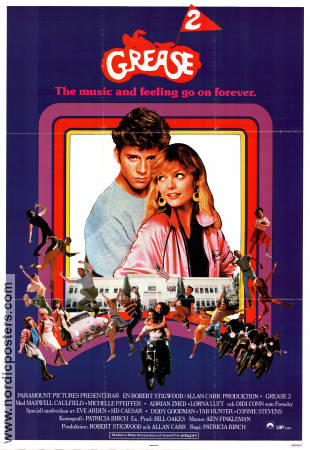 Grease 2 1982 Movie poster Michelle Pfeiffer
