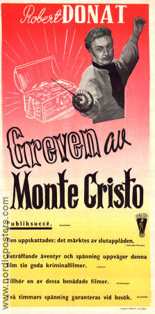 The Count of Monte Christo 1934 poster Robert Donat