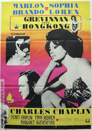 A Countess from Hong Kong 1967 Movie poster Marlon Brando Charles Chaplin