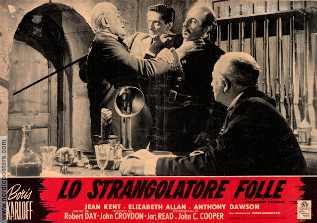 Grip of the Strangler 1958 poster Boris Karloff Robert Day