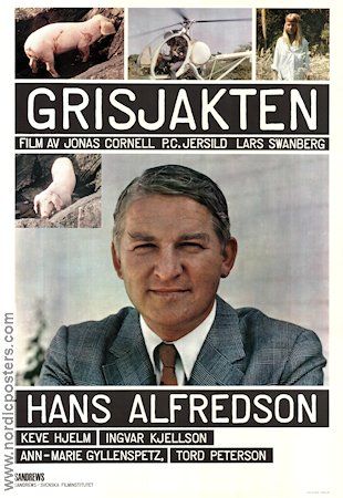 Grisjakten 1970 Movie poster Jonas Cornell