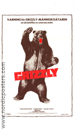 Grizzly 1976 poster Christopher George William Girdler